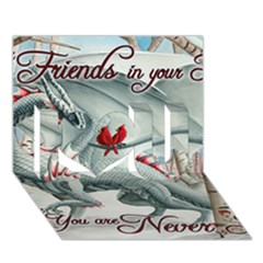 Lady Of The Fores Sts I Love You 3d Greeting Card (7x5)