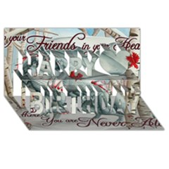 Lady Of The Fores Sts Happy Birthday 3d Greeting Card (8x4)