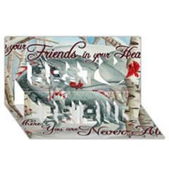 Lady Of The Fores Sts Best Friends 3D Greeting Card (8x4)