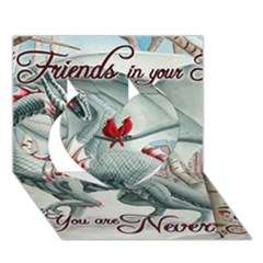 Lady Of The Fores Sts Heart 3D Greeting Card (7x5)
