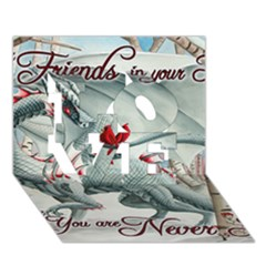 Lady Of The Fores Sts LOVE 3D Greeting Card (7x5)