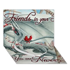 Lady Of The Fores Sts Heart Bottom 3d Greeting Card (7x5)