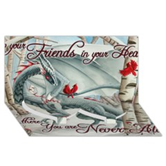 Lady Of The Fores Sts Twin Heart Bottom 3D Greeting Card (8x4)