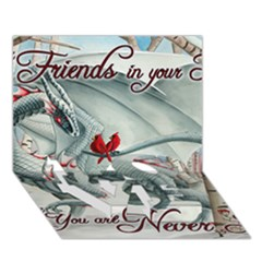 Lady Of The Fores Sts Love Bottom 3d Greeting Card (7x5)