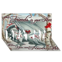 Lady Of The Fores Sts BEST SIS 3D Greeting Card (8x4)