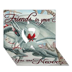 Lady Of The Fores Sts Ribbon 3D Greeting Card (7x5)
