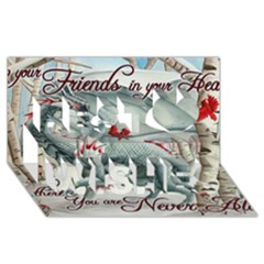 Lady Of The Fores Sts Best Wish 3d Greeting Card (8x4)