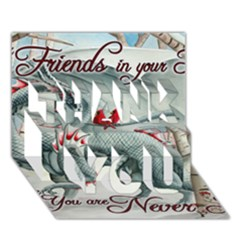 Lady Of The Fores Sts THANK YOU 3D Greeting Card (7x5)