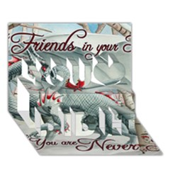 Lady Of The Fores Sts You Did It 3D Greeting Card (7x5)