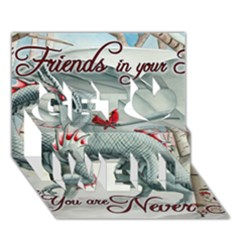 Lady Of The Fores Sts Get Well 3D Greeting Card (7x5)