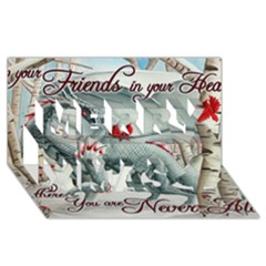 Lady Of The Fores Sts Merry Xmas 3D Greeting Card (8x4)