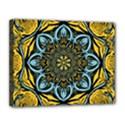 Blue floral fractal Canvas 14  x 11  View1