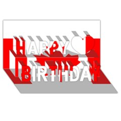 Style 1 Happy Birthday 3D Greeting Card (8x4)