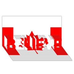 Style 1 Believe 3d Greeting Card (8x4)