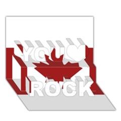 Style 2 You Rock 3D Greeting Card (7x5)