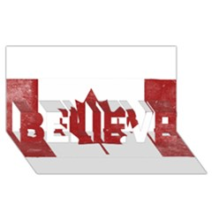Style 3 Believe 3d Greeting Card (8x4)