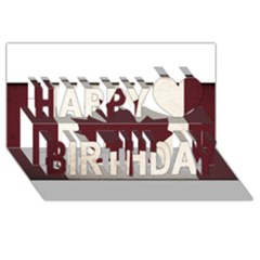 Style 4 Happy Birthday 3d Greeting Card (8x4)