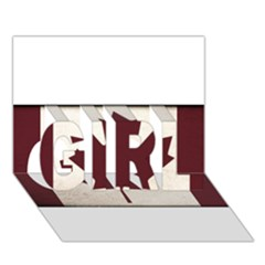 Style 4 Girl 3d Greeting Card (7x5)