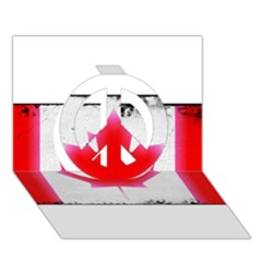 Style 5 Peace Sign 3D Greeting Card (7x5)