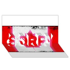 Style 5 Sorry 3d Greeting Card (8x4)