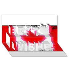 Style 5 Best Wish 3D Greeting Card (8x4)