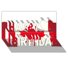Style 7 Happy Birthday 3D Greeting Card (8x4)