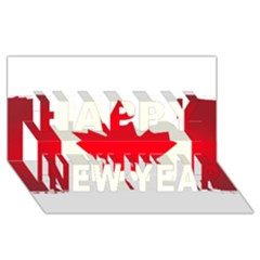 Style 7 Happy New Year 3D Greeting Card (8x4)