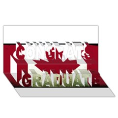Style 9 Congrats Graduate 3D Greeting Card (8x4)