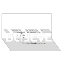 Better To Take Time To Think BELIEVE 3D Greeting Card (8x4)