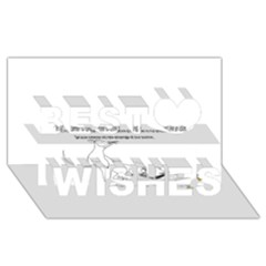 Better To Take Time To Think Best Wish 3d Greeting Card (8x4)