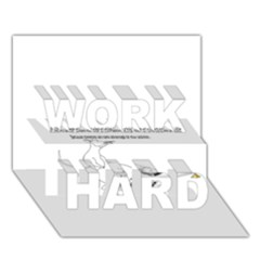 Better To Take Time To Think WORK HARD 3D Greeting Card (7x5)