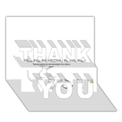 Better To Take Time To Think THANK YOU 3D Greeting Card (7x5)