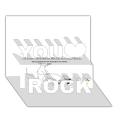 Better To Take Time To Think You Rock 3D Greeting Card (7x5)