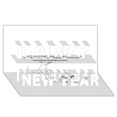 Better To Take Time To Think Happy New Year 3D Greeting Card (8x4)