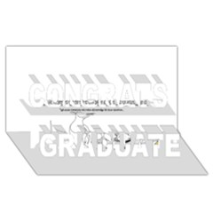 Better To Take Time To Think Congrats Graduate 3D Greeting Card (8x4)