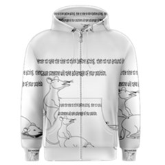 Better To Take Time To Think Men s Zipper Hoodies
