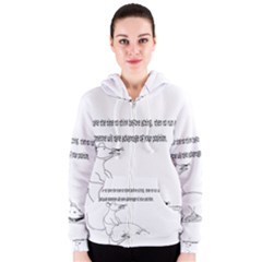Better To Take Time To Think Women s Zipper Hoodies