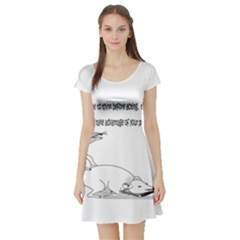 Better To Take Time To Think Short Sleeve Skater Dresses
