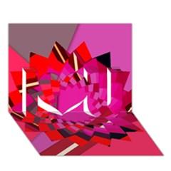 Geo Fun 11 I Love You 3d Greeting Card (7x5)