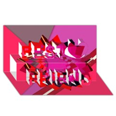 Geo Fun 11 Best Friends 3d Greeting Card (8x4)