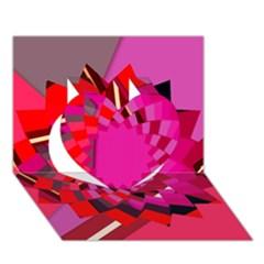 Geo Fun 11 Heart 3d Greeting Card (7x5)