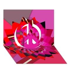 Geo Fun 11 Peace Sign 3D Greeting Card (7x5)