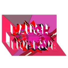 Geo Fun 11 Laugh Live Love 3d Greeting Card (8x4)