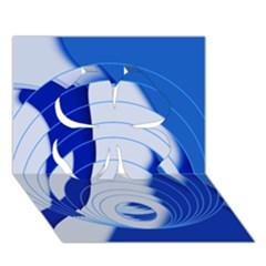 Geo Fun 14 Clover 3D Greeting Card (7x5)