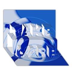 Geo Fun 14 TAKE CARE 3D Greeting Card (7x5)