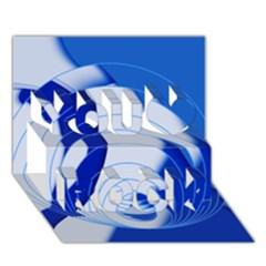 Geo Fun 14 You Rock 3D Greeting Card (7x5)