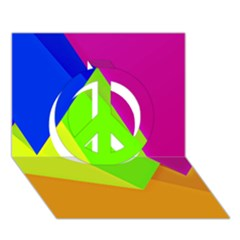 Geo Fun 15 Peace Sign 3D Greeting Card (7x5)