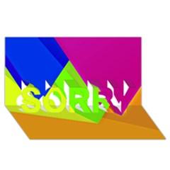 Geo Fun 15 SORRY 3D Greeting Card (8x4)