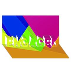 Geo Fun 15 ENGAGED 3D Greeting Card (8x4)