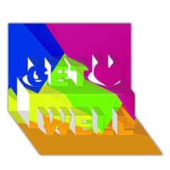 Geo Fun 15 Get Well 3d Greeting Card (7x5)